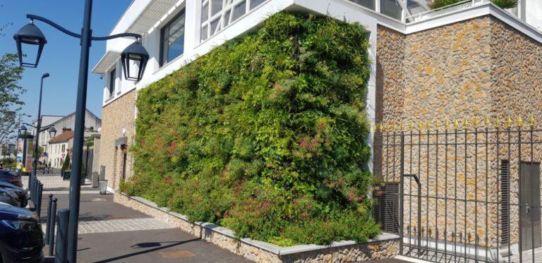 construction mur végétal